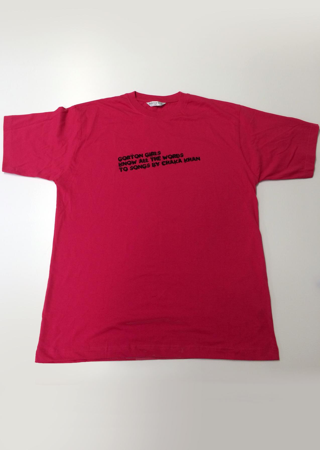 T Shirt Red Gorton Girls